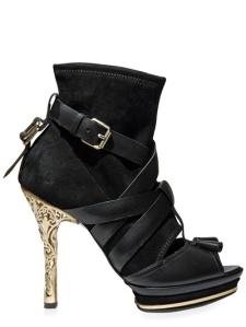 Ballys Peep Toe Leather Strap Sandals