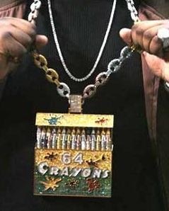 "Sean Kingston's ""64 Crayons"" chain"