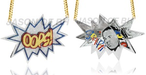 """Chris Brown's """"Oops!"""" chain"""