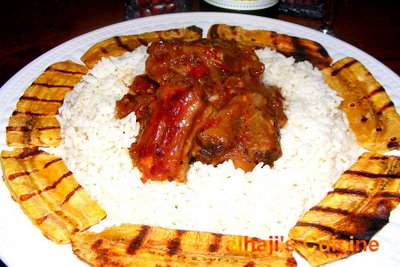 Ox tails & grilled plantain
