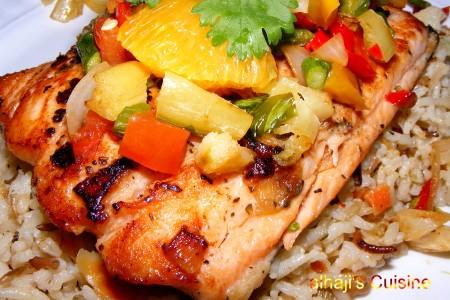 Grilled Salmon With Wild Basmati Rice