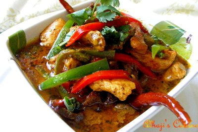 Spicy Red Thai Curry Beef & Chicken