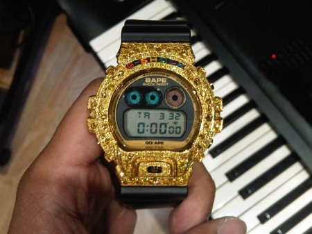 Pharrell William's custom G-Shock