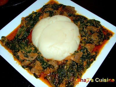 Egusi With Pounded Yam